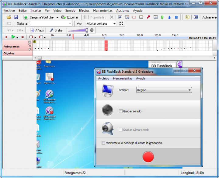 About FlashBack Plus Spanish Edition: Advanced screen recorder software.