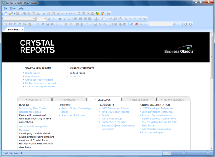 About SAP Crystal Reports: Leverage a complete report management solution.