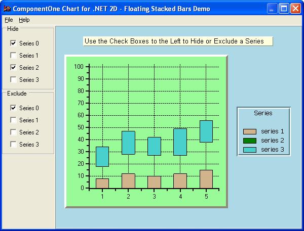 ComponentOne Chart for WinForms について: 多彩な 2D チャート、および 3D チャートを作成できます。