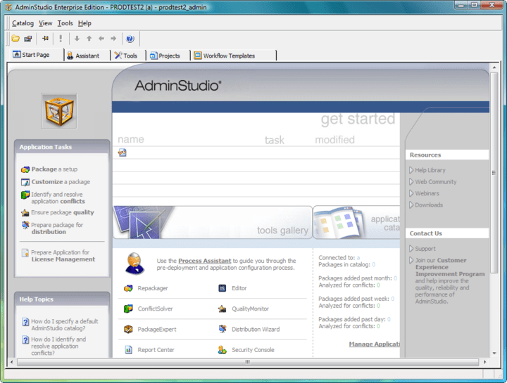 About AdminStudio Enterprise with Application Compatibility Pack: Automated application compatibility testing and fixing.