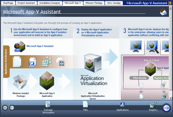 AdminStudio Professional with Virtualization Pack 관련 정보: 자동화 및 인텔리전스 기능이 추가된 신뢰성 있는 소프트웨어 패키지.
