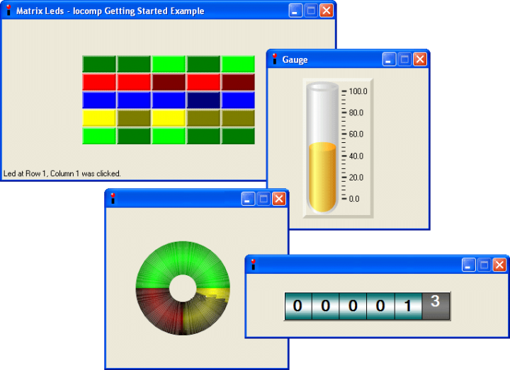 About Iocomp .NET WinForms Pro Pack: Add real-time instrumentation display to your .NET applications.