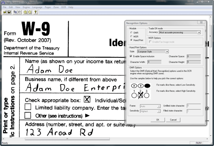 About LEADTOOLS ICR Module: Convert handwritten text and numbers into machine readable strings and documents.