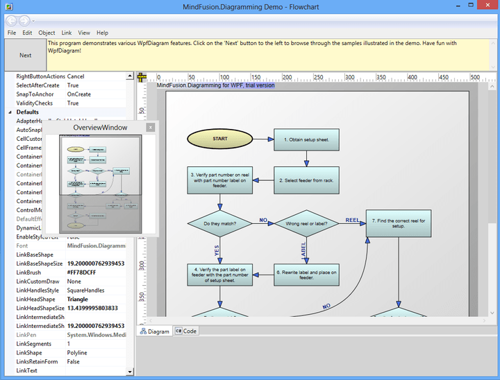 About MindFusion.Diagramming for WPF: Add advanced diagramming capabilities to your WPF applications.