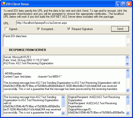 About EDI Integrator .NET Edition: Send and Receive Internet EDI (EDI-INT) with AS2/AS3.
