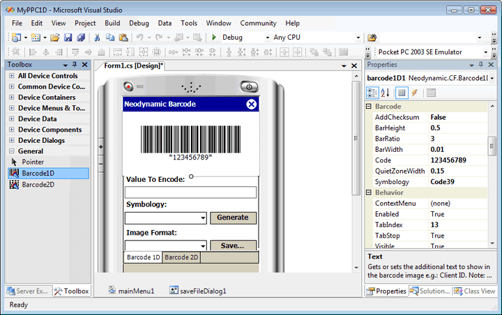 Barcode Professional For Net Compact Framework