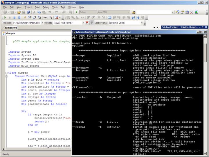 About PDFlib pCOS: PDF Information Retrieval Tool.