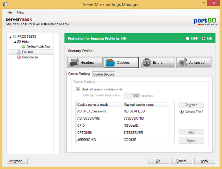 Port80 software servermask for iis v4.1.2.5530 redtmurlok