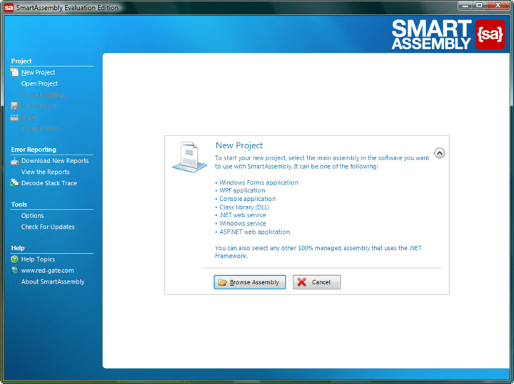 About SmartAssembly Pro: .NET obfuscator and automated error reporting.