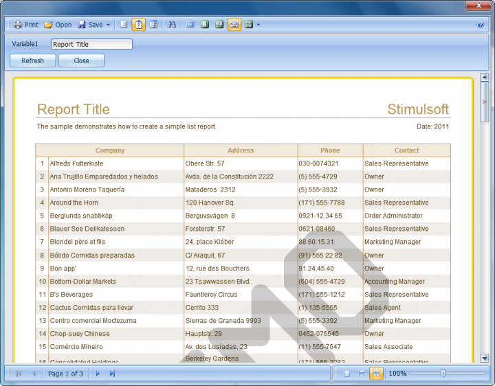 About Stimulsoft Reports.Fx for Java: Add reports to your Java desktop and Web applications.