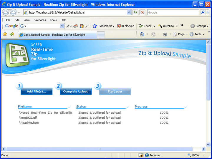 About Xceed Real-Time Zip for Silverlight: Add zip and unzip functionality to Silverlight applications.