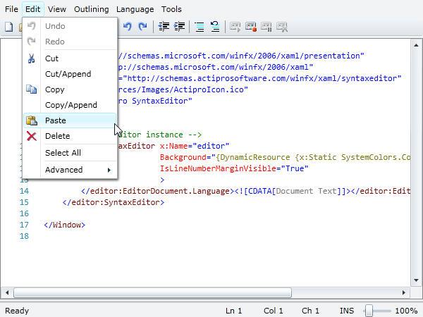 <strong>Menus, toolbars & context menus.</strong><br /><br />