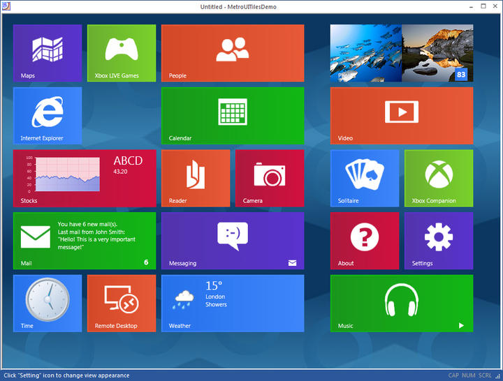 <strong>Windows 8 style Tiles control.</strong><br /><br />