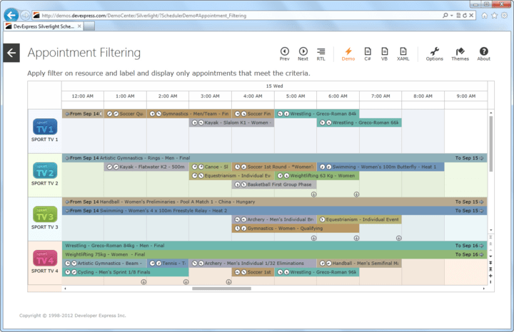 <strong>Outlook® inspired scheduler and calendar control.</strong><br /><br />
