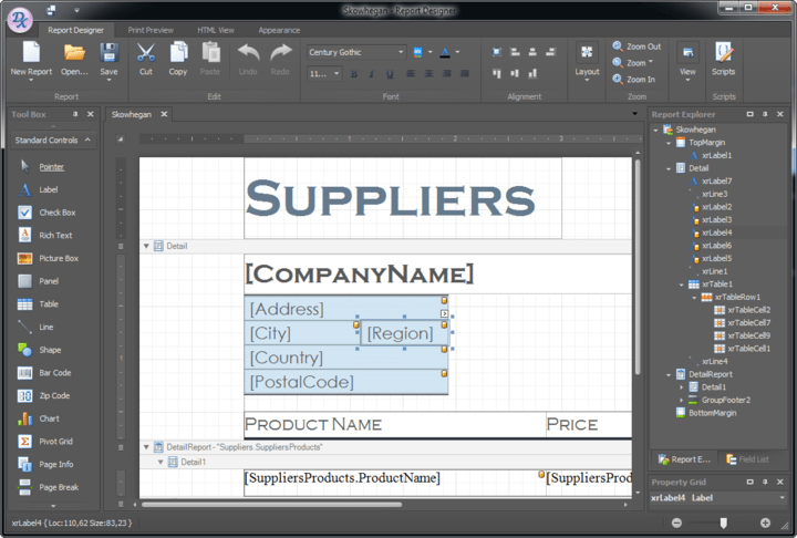 Enterprise-ready reporting with built-in designer.