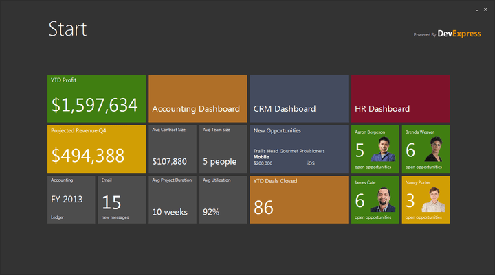 <strong>Windows 8 UI for the WinForms platform.</strong><br /><br />