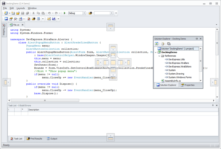 <strong>Visual Studio inspired WinForms docking control.</strong><br /><br />