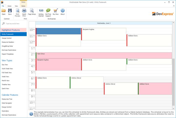 <strong>Outlook® inspired scheduler, gantt and calendar control.</strong><br /><br />