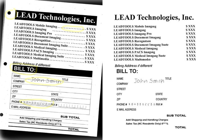 <strong>Clean scanned images for ultimate accuracy & compression.</strong><br /><br />