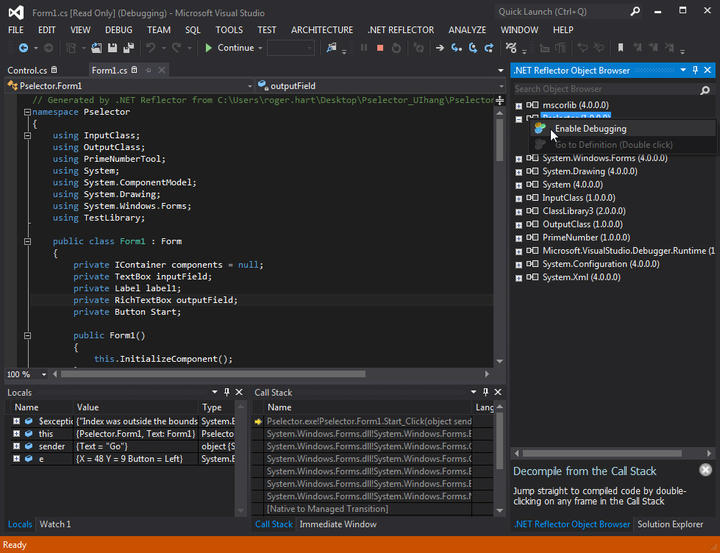 <strong>Debug into any code, in Visual Studio.</strong><br /><br />