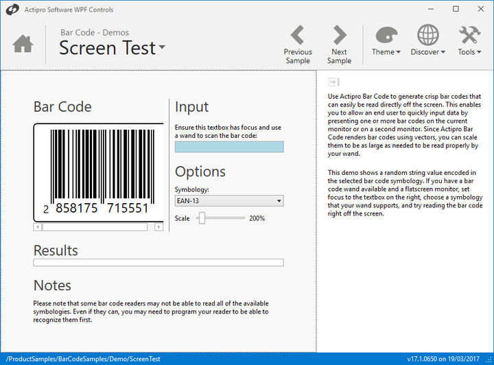 <strong>Configurable Display Options</strong>: The same bar code can be configured in many different ways. <br /><br />
