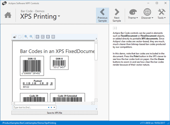 <strong>Vector-Based Scaling</strong>: Bar Codes are rendered as vectors so they scale cleanly to any size and can be rotated with precision.