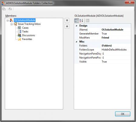 <strong>Module Designer</strong>: Outlook Solution Module designer.<br /><br />