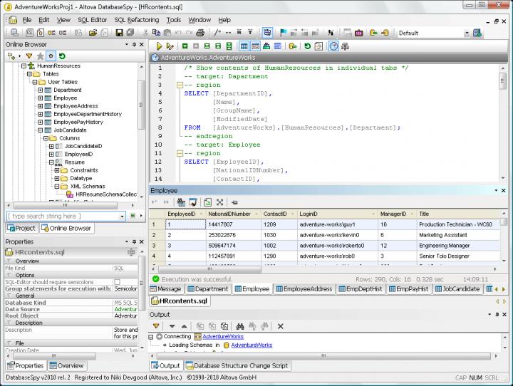 DatabaseSpy : DatabaseSpy