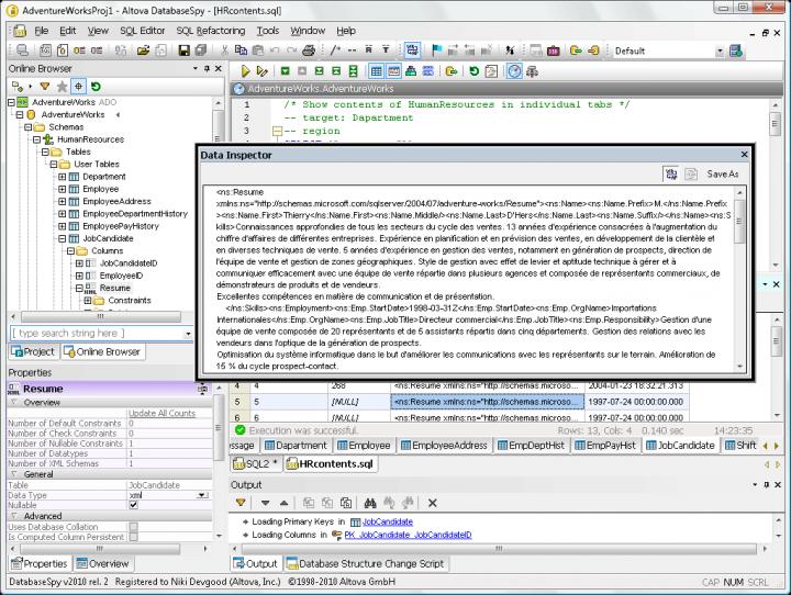 Screenshot of Altova DataBaseSpy Enterprise Edition - Installed Users