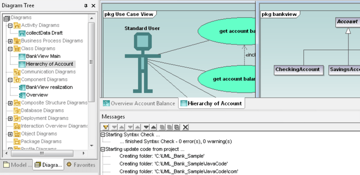 <strong>UModel</strong>: UModel combines a rich visual interface with superior usability features to help level the UML learning curve, yet it also includes high-end functionality to empower users with the most compelling advantages of UML software development. <br /><br />