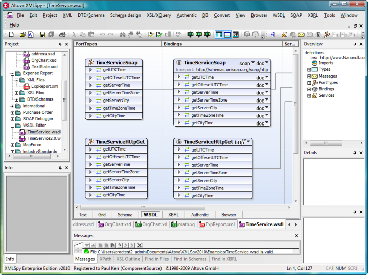 XMLSpy: XMLSpy is an advanced XML editor for modeling, editing, transforming, and debugging XML-related technologies. The XML editor delivers the power you need to create the most advanced XML and Web applications.