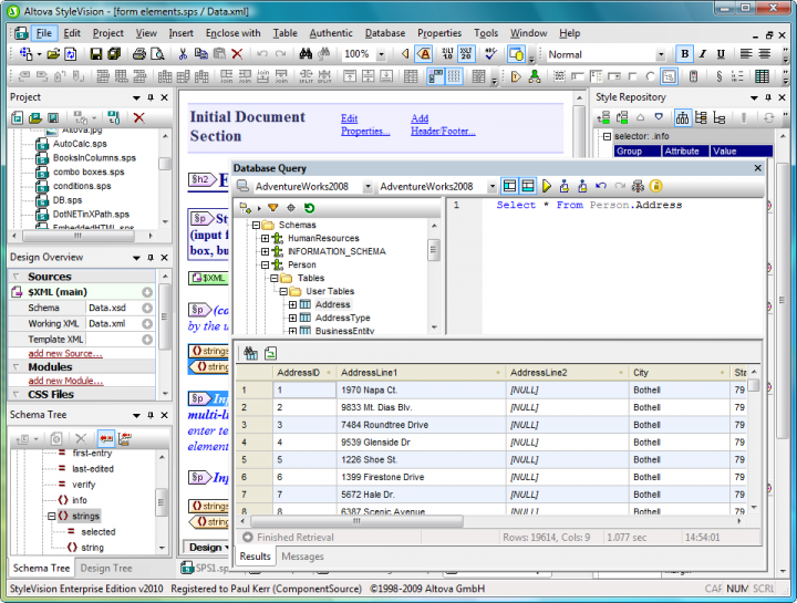 Screenshot of Altova MissionKit Enterprise 2015 Concurrent Users