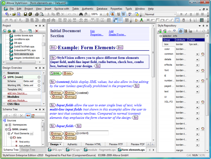 Electronic Forms Design