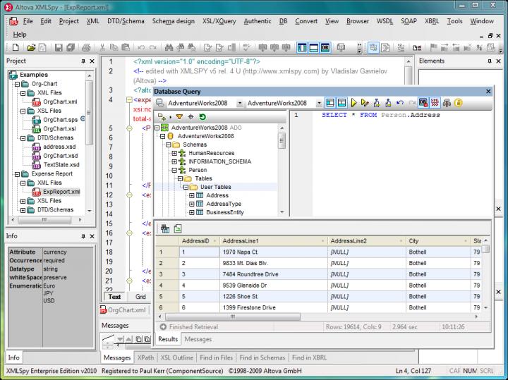 XML Editing Tools: Altova XMLSpy includes XML editing tools that simplify the creation and editing of XML documents.