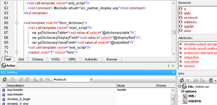 <strong>XSLT, XQuery, XPath, XInclude, and CSS Tools</strong>: Altova XMLSpy provides a comprehensive set of tools for working with XSLT 1.0 & 2.0, XPath, XQuery, XInclude, and CSS in a simplified, intuitive manner. <br /><br />