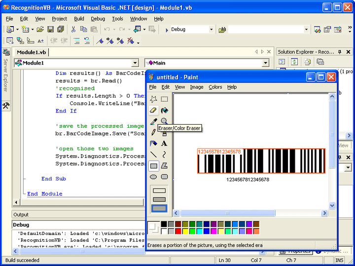 <strong>Screenshot of Aspose.BarCode for .NET</strong><br /><br />