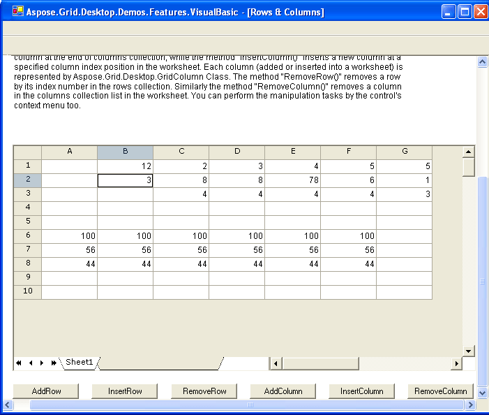 Rows and Columns : Aspose.Grid allows you to manipulate rows and ...