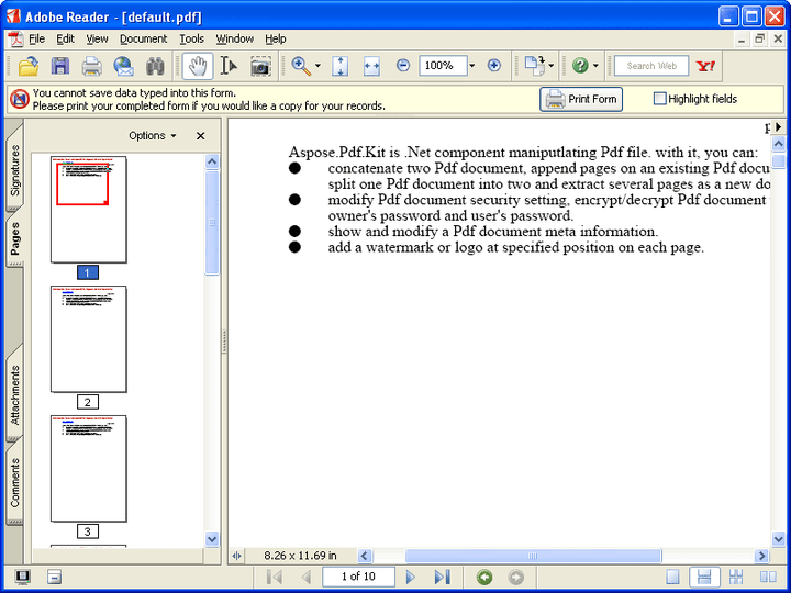 two pdf files into one