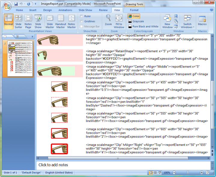 <strong>Screenshot of Aspose.Slides for JasperReports</strong><br /><br />