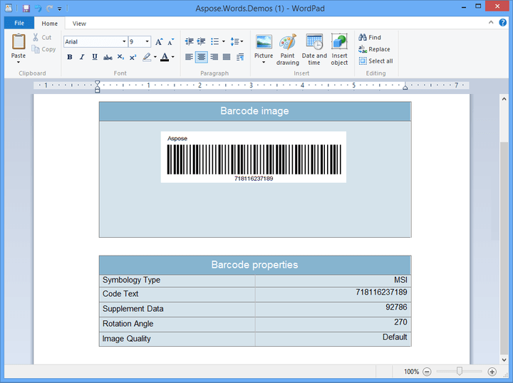 <strong>Aspose.Barcode</strong>: Barcode generation and recognition component, written in managed C# for your WinForms, ASP.NET and .NET CF applications.<br /><br />
