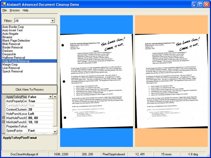 <strong>펀치 구멍 제거</strong>: Document cleanup은 문서의 펀치 구멍을 제거합니다.<br /><br />