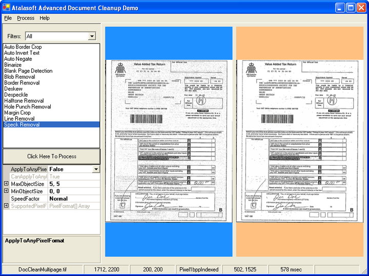 <strong>반점 제거</strong>: Document cleanup은 문서의 반점을 제거해 문서를 훨씬 선명하고 읽기 쉽게 만듭니다.<br /><br />
