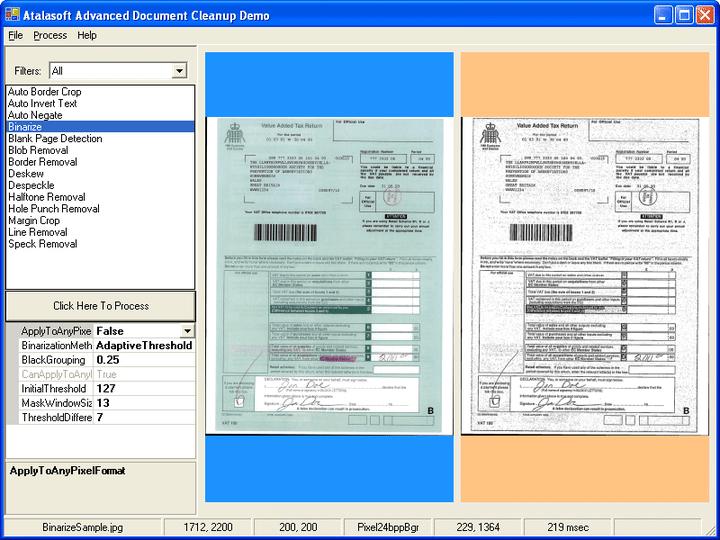 <strong>2진화</strong>: Document cleanup은 그레이스케일이나 컬러 이미지를 흑색과 백색으로 전환합니다.<br /><br />