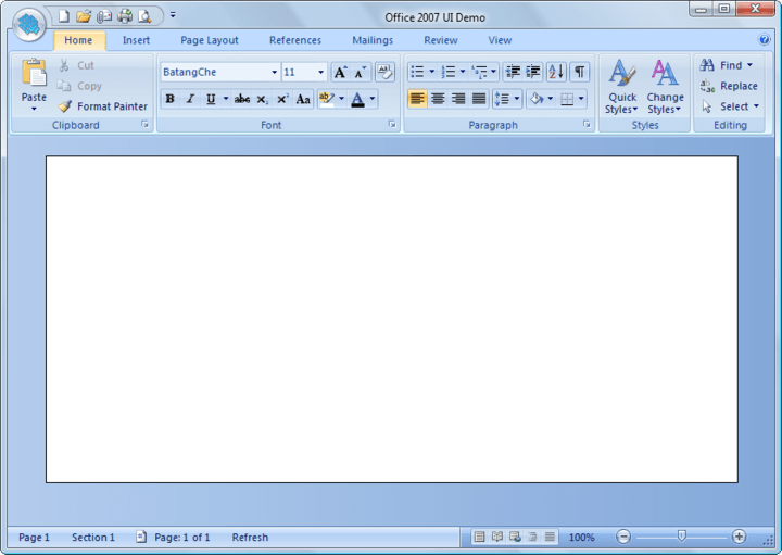 <strong>Office 2007 Ribbons </strong>: BCGControlBar allows you to create the most advanced user interfaces like Office 2000/XP/2003/2007-style toolbars and menus, Office 2007-style ribbons, VS 2005-style docking bars, auto hide control bars, MDI tabs, flexible visualization managers and more.<br /><br />