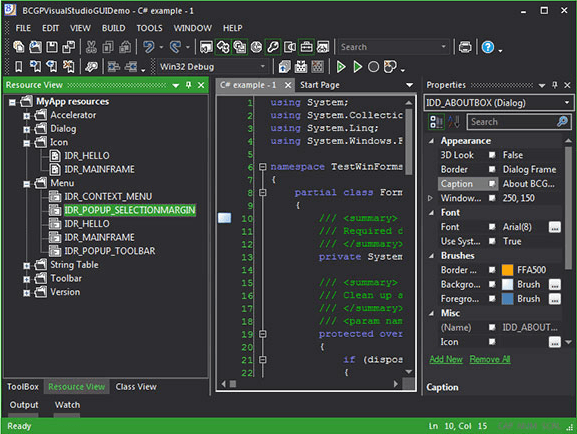<strong>VS 2012 Dark Theme (Green accent)</strong><br /><br />