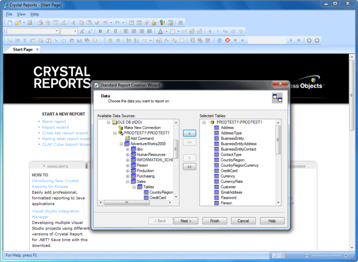 <strong>Screenshot of SAP Crystal Reports</strong><br /><br />