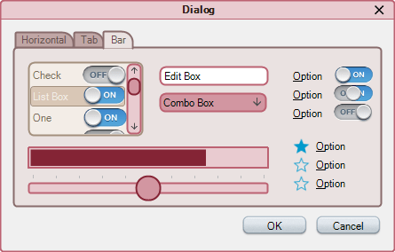 <strong>Demo Theme and Warm Swatch</strong>: Dialog design with Demo theme and Warm swatch<br /><br />