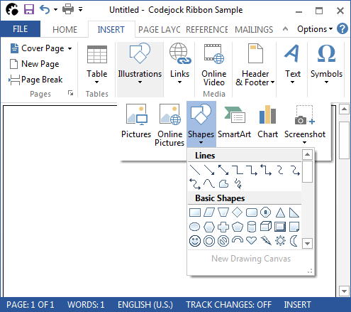 <strong>Microsoft Office Style Menus</strong>: Custom Theme support allows you to create your own menu theme such as Microsoft Office-style menus.