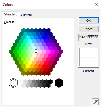 <strong>Color Selection Dialog</strong>: The Office Style Color Selection Dialog has several features including options for standard and extended color selection, automatic or fill color button, hex display and an extended color selection dialog that can be used as a drop in replacement for the MFC CColorDialog wrapper class.
