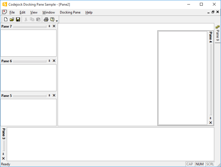<strong>Gripper Theme Support</strong>: Codejock DockingPane provides built in theme support for a grippered appearance. You can choose this theme for a more classic windows appearance, or choose from several pre-defined theme styles created for DockingPane. <br /><br />